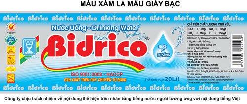 Mẫu nhãn Bidrico mới