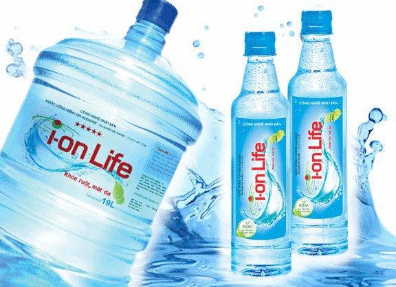 Nước ion Life đóng bình 19 lít và đóng chai nhỏ
