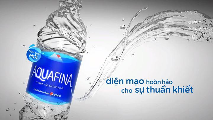 nước aquafina diện mạo mới